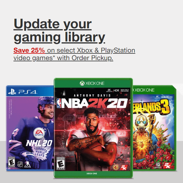 PS4, Nintendo Switch & Xbox One Video Games at Target