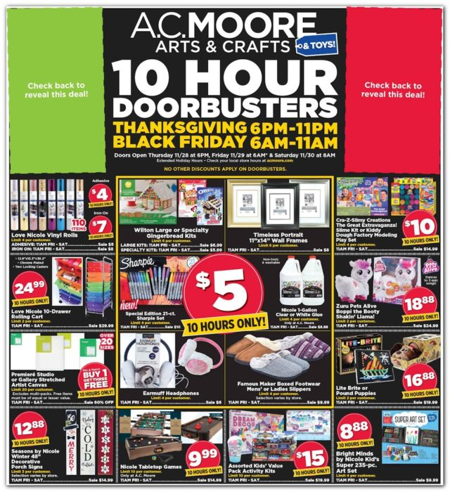 2019 AC Moore Black Friday Ad Scan