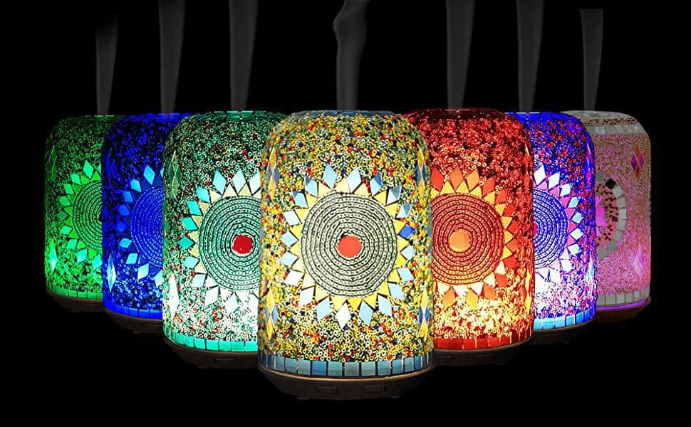Vyaime Hand-inlay Essential Oil Diffuser Handmade Glass Mosaic Now .09 (Was .99 )