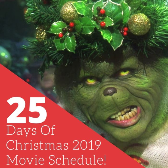 Days Of Christmas 2019 Movie Schedule