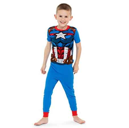 Marvel Little Boys' Avengers 4-Piece Cotton Pajama Set Now .90 (Was .99)