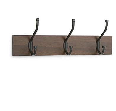 AmazonBasics Wall Mounted Standard Coat Rack, Set of 2 Now $9.49 (Was $19.99)