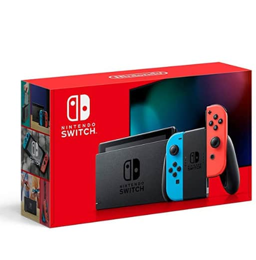 Nintendo Switch with Neon Blue and Neon Red Joy‑Con In Stock!