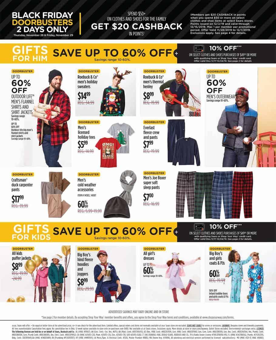 2019 Sears Black Friday Ad Scan