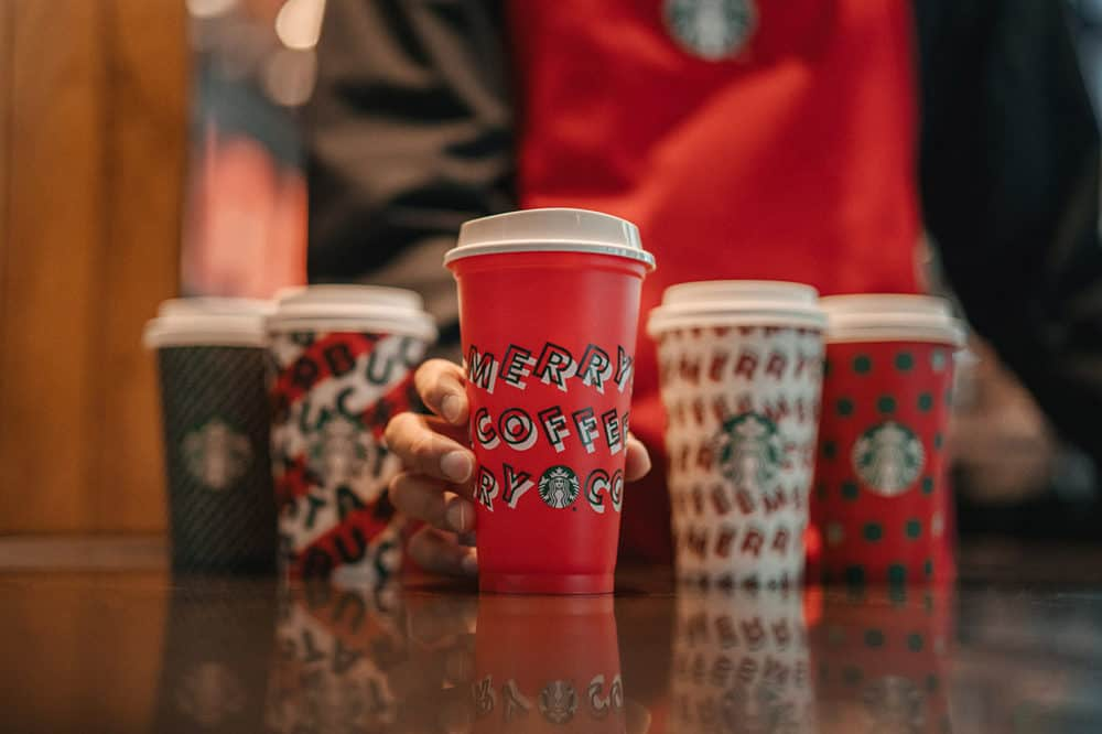 Buy Any Starbucks Holiday Beverage & Get a Red Reusable Cup for FREE