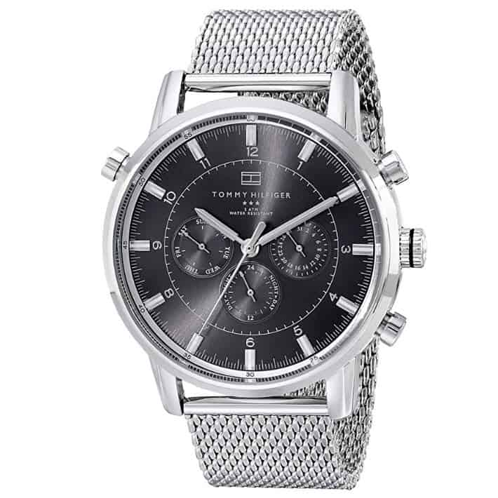 Tommy Hilfiger Men's Silver-Tone Stainless Steel Watch Now .95 (Was 5.00)