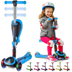 SKIDEE 2-in-1 Adjustable 3 Wheel Scooter Now .95 (Was 9.95)