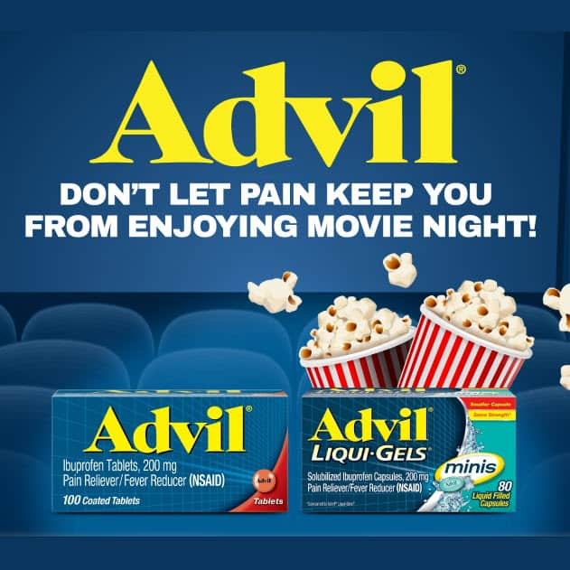 Buy 1 Advil Product at Walmart, Get a FREE  Movie Ticket