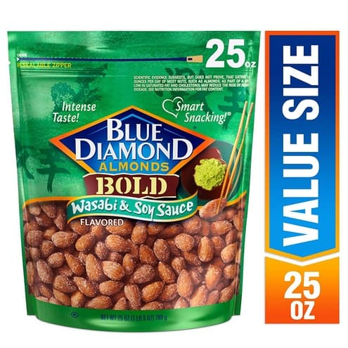 Blue Diamond Wasabi & Soy Sauce Almonds .41 + MORE Blue Diamond Almonds Deals