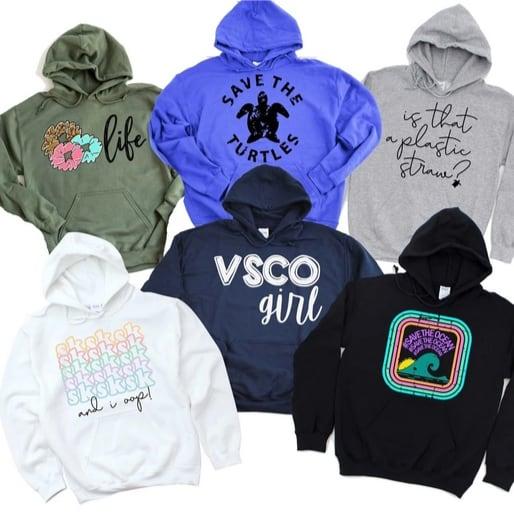 VSCO Girl Hoodies Now .99 (Was )