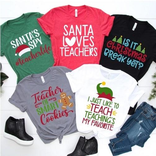Christmas Teacher Tees Only .99 Shipped