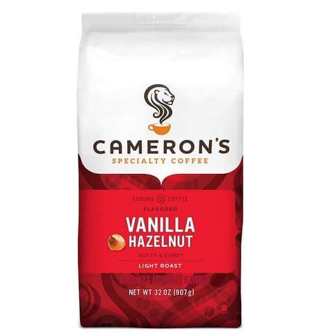Cameron's Roasted Ground Coffee Vanilla Hazelnut Now .30