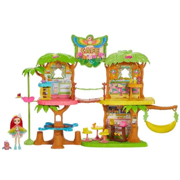 Enchantimals Junglewood Cafe & Peeki Parrot Doll Now .99