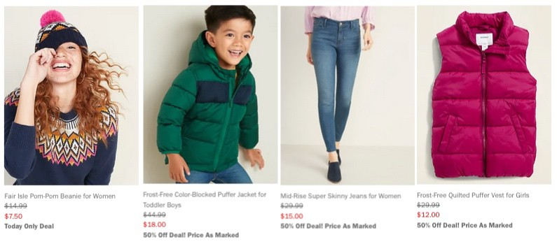 Extra 40% Everything at Old Navy