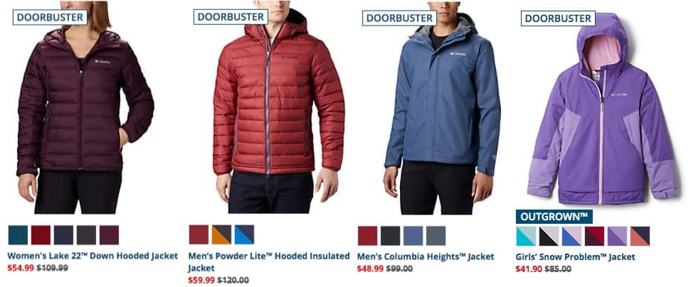 Columbia Black Friday ~ 50% Off Doorbusters + Free Shipping