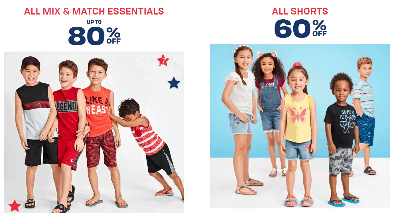 Save up to 80% off + Get Free Shipping on ANY Order at The Children's Place
