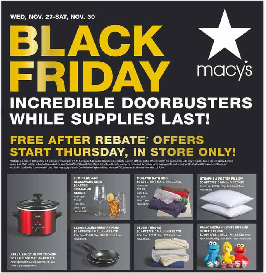 2019 Macy's Black Friday Ad Scan