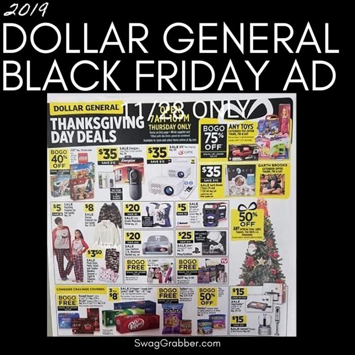 2019 Dollar General Black Friday Ad Scan