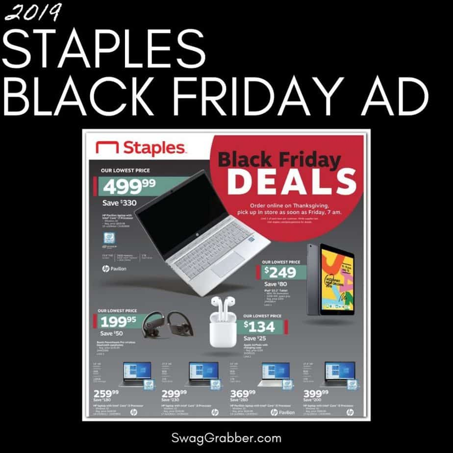 2019 Staples Black Friday Ad Scan