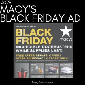2019 Macy's Black Friday Ad Scan