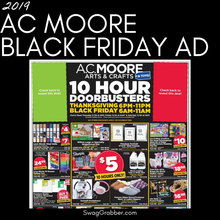 2019 AC Moore Black Friday Ad
