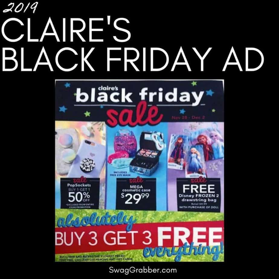 2019 Claire's Black Friday Ad Scan