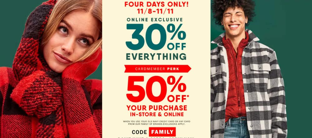 Old Navy Coupon Codes   50% off Full Price Items + Free Shipping