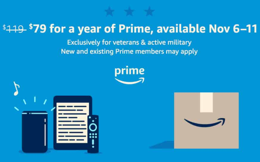 Discount Prime Memberships for Veterans & Active Military - Only  **Last Day**
