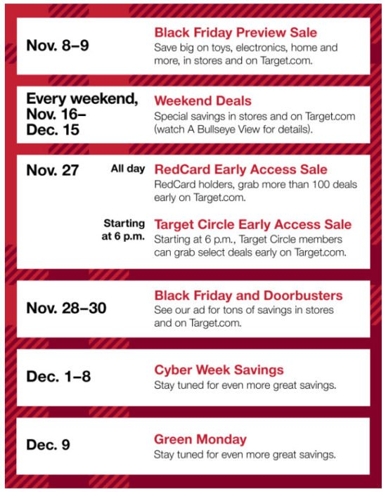 Target Black Friday Deals Coming Early for REDCard Holders