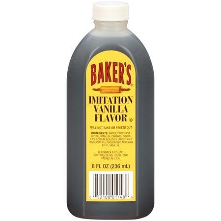 (4 pack) Baker's Imitation Vanilla Extract, 8 fl oz