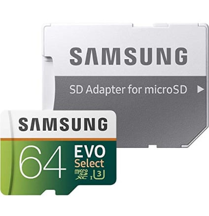 Samsung 64GB 100MB MicroSDXC Memory Card with Adapter Now .99