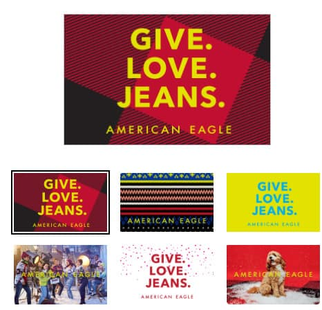 Buy + American Eagle Gift Card, Get  Gift Card for FREE