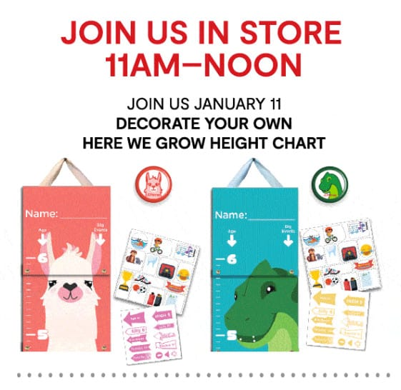 FREE Decorate Your Own Here We Grow Height Chart at JCPenney Stores
