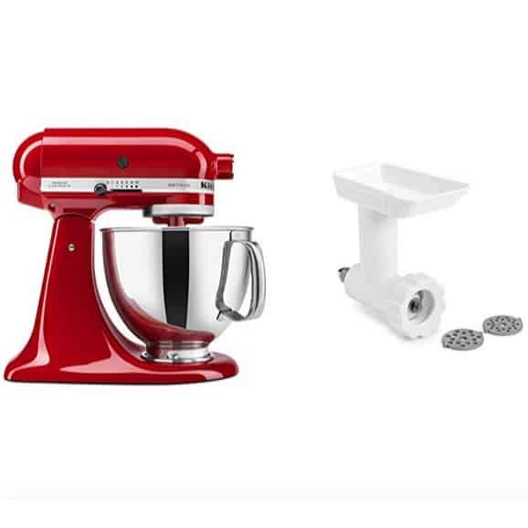 KitchenAid Artisan Tilt-Head Stand Mixer with Food Grinder Attachment Now 9.99 (Was 8.99)