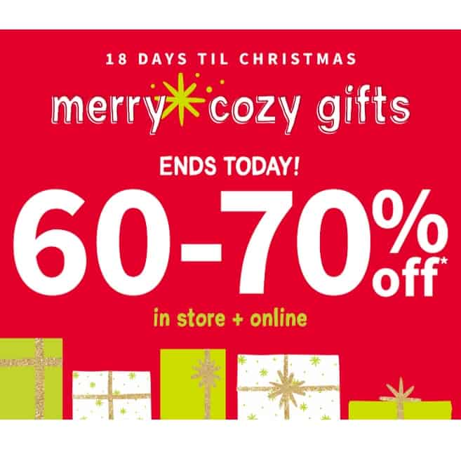 Carter's: 60%- 70% Off + 20% Off  or More