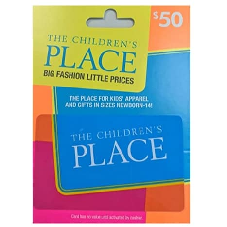 The Children's Place Gift Card Now