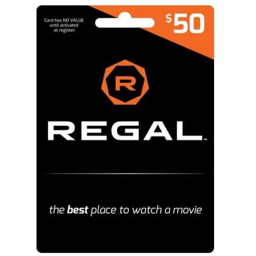 Regal Gift Card .50