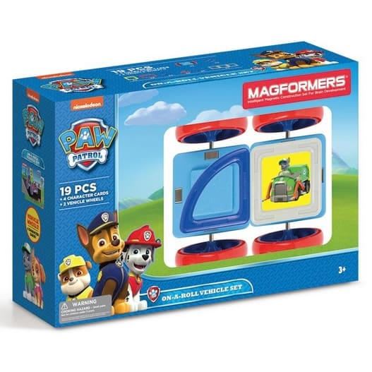 Magformers Paw Patrol 19 Pieces On a Roll Vehicle Now .16 (Was .99)