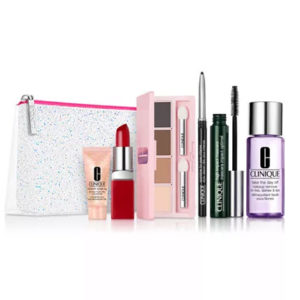 Clinique 7-Pc Merry & Bright Set + 1oz Sonic Facial Soap + 6-Pc Skincare Gift ONLY  Shipped