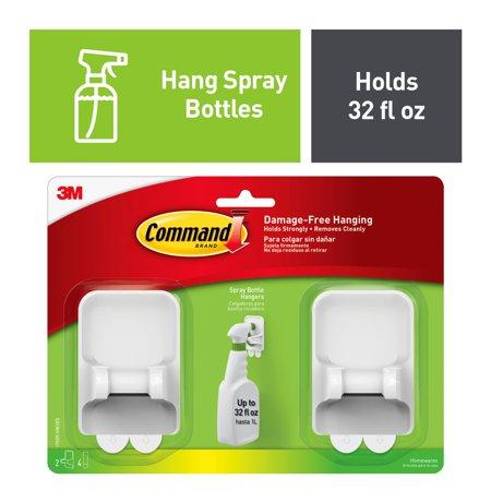Command Spray Bottle Hangers, 2 pack, 1 hangers, 4 large strips