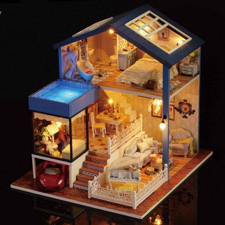 ROBOTIME Exquisite DIY House Miniature Dollhouse Kit Now $12 (Was $39.99)