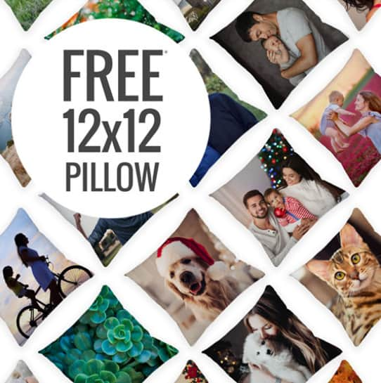 FREE Photo Pillow from Canvas People
