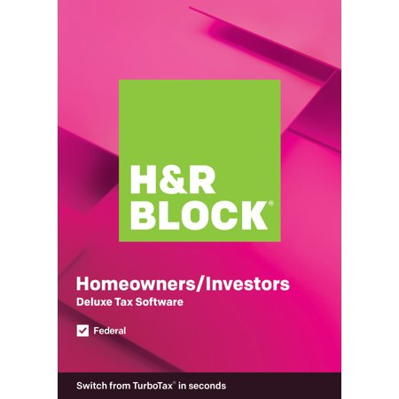 H&R Block Tax Software Deluxe + State 2019 with 4% Refund Offer Now $22.49 (Was $44.99)