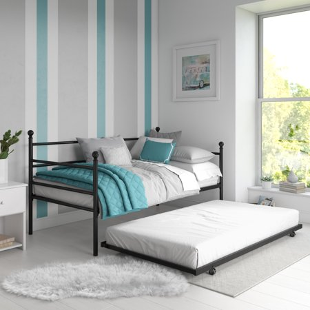 DHP Manila Twin Metal Daybed Frame and Twin Size Trundle Now $138.15 (Was $250)