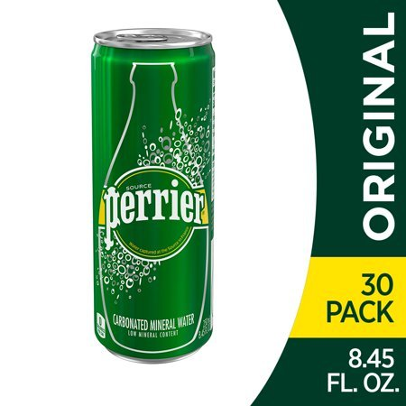 24-Pack Perrier Carbonated Mineral Water 16.9Oz Now $12.81