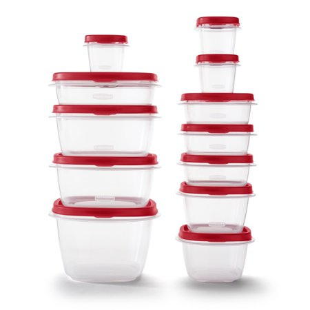 Rubbermaid Easy Find Vented Lids Food Storage Containers, 24-Piece Now $6.99 (Was $13.62)
