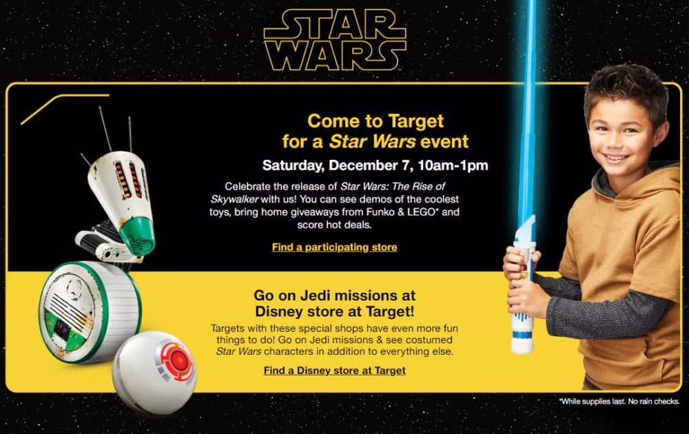 FREE Star Wars Event at Target on December 7th