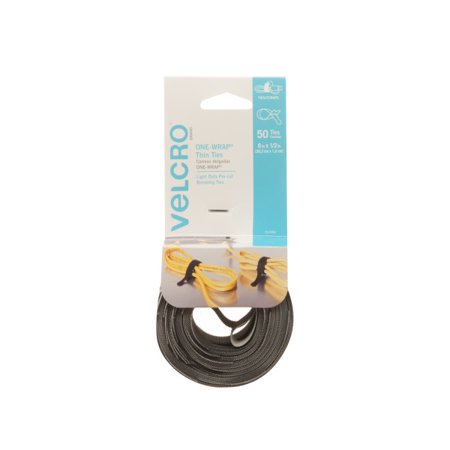 VELCRO Brand ONE WRAP Thin Ties | Perfect for Fastening Wires & Organizing Cords Now $2.05 (Was $6.99)