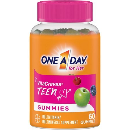 4 Pack - One A Day for Her VitaCraves Teen Multivitamin Gummies, 60 Count
