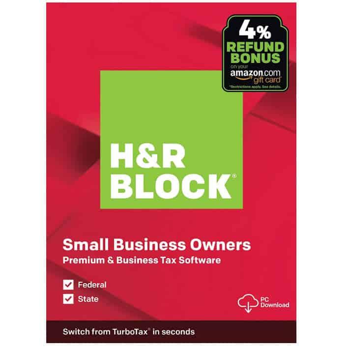 H&R Block Tax Software Premium & Business 2019 with 4% Refund Bonus Offer Now .99 (Was .99)